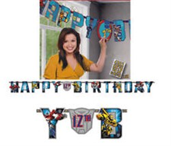 Transformers Yaşını Yaz Happy Birthday Banner
