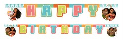 Prenses Moana Happy Birthday Banner