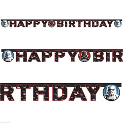Star Wars Heroes & Villains Happy Birthday Banner