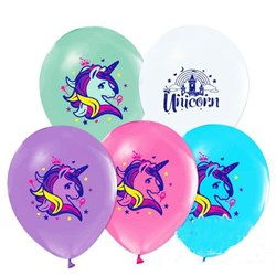 Unicorn Partisi, Baskılı Balon 10lu